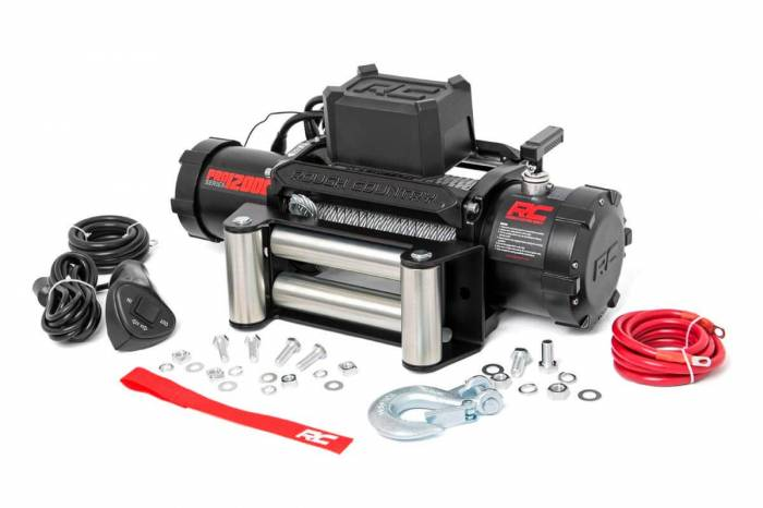Rough Country - Rough Country 12000lb Pro Series Electric Winch   Steel Cable PRO12000