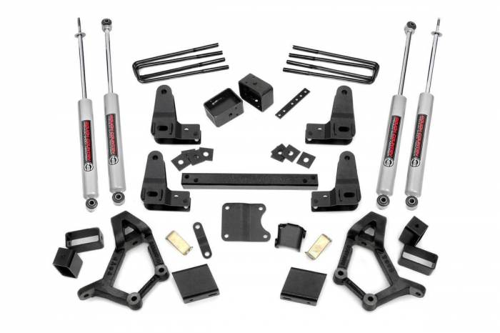 Rough Country - Rough Country 4-5in Toyota Suspension Lift Kit (Std/Ext Cab) 733.2
