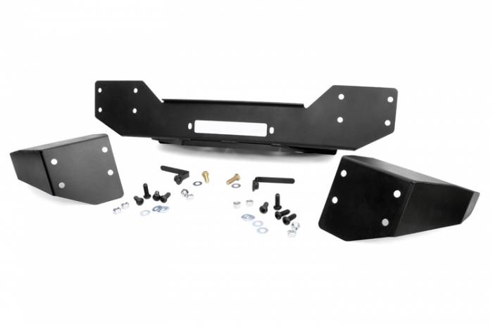 Rough Country - Rough Country Jeep Hybrid Stubby Winch Bumper (07-18 Wrangler JK) 1059