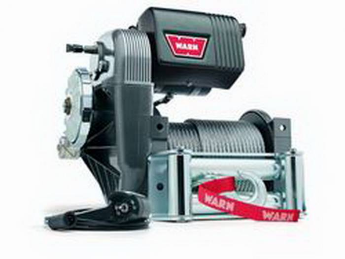 Warn - Warn 12 Volt 9000 LB Cap 150 Ft Wire Rope Roller Fairlead 38631