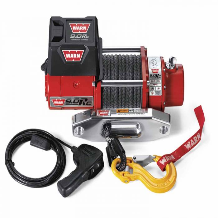 Warn - Warn 12 Volt 9000 LB Cap 50 Ft Synthetic Rope Hawse Fairlead 71550