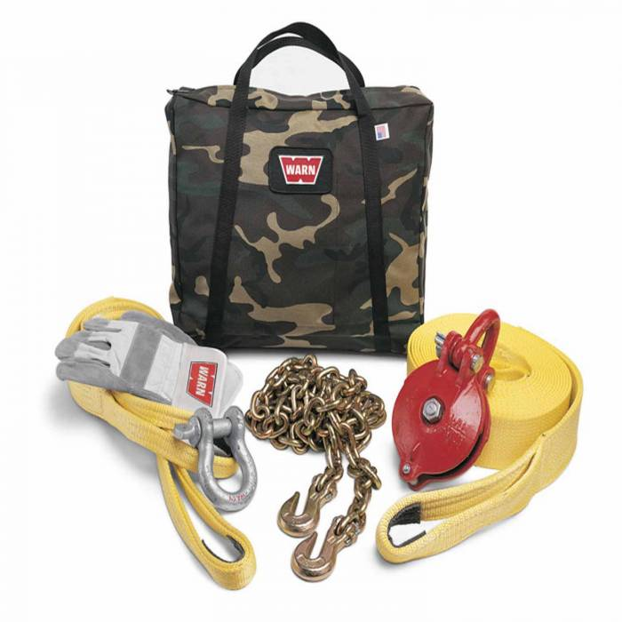 Warn - Warn With Snatch Block Tree Protector 3/4 Inch Shackle Strap Chain Gloves Gear Bag 29460