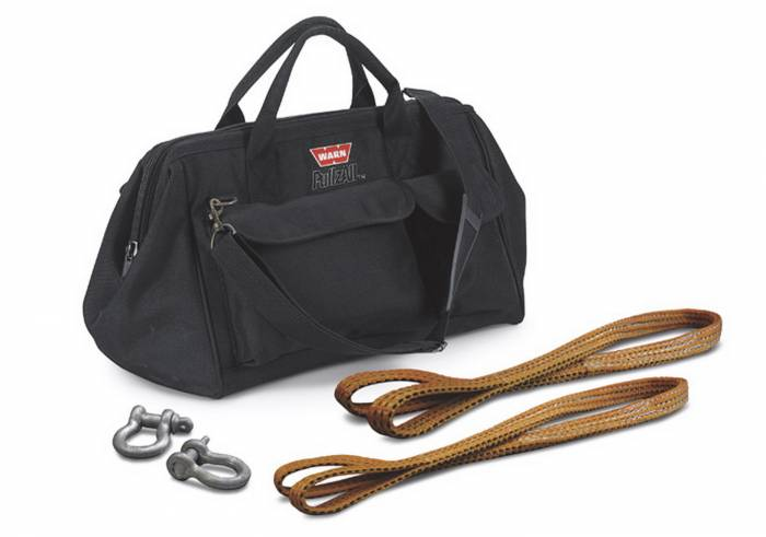 Warn - Warn With Two Shackles; Two Load Straps and Gear Bag; Black 685014