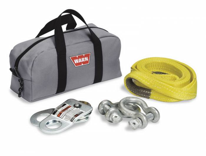 Warn - Warn With Two Shackles; Snatch Block; Load Strap and Gear Bag; Gray 70792