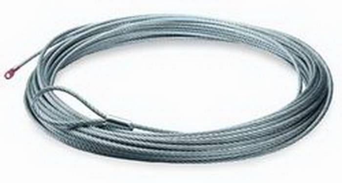Warn - Warn 12000 LB Cap 3/8 Inch Dia x 125 Ft Galvanized Wire Rope 38423