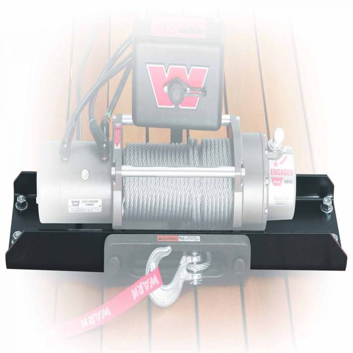 Warn - Warn For Use with M12 and M8274-50 Winches; Fixed Mount; Powder Coated; Black; Steel 11078