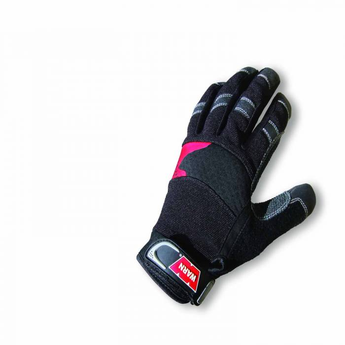 Warn - Warn Synthetic Leather with Kevlar Reinforcement Shock Absorbing Palm Black Size XL 88895