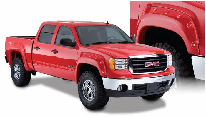 Bushwacker - Bushwacker Boss™ Pocket Style® Fender Flares - Front 2007-2010 GMC Sierra 3500 HD 40089-02