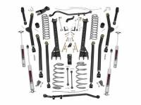 Rough Country - Rough Country 4in Jeep Long Arm Suspension Lift Kit (97-06 Wrangler TJ) 66330