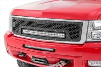 Exterior - Grilles - Rough Country - Rough Country Chevrolet Mesh Grille w/30in Dual Row Black Series LED (07-13 Silverado 1500) 70196