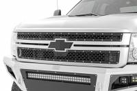 Exterior - Grilles - Rough Country - Rough Country Chevy Mesh Grille (11-14 Silverado HD) 70153