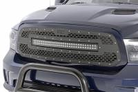 Exterior - Grilles - Rough Country - Rough Country Dodge Mesh Grille w/30in Dual Row Black Series LED (13-18 Ram 1500) 70199