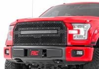 Exterior - Grilles - Rough Country - Rough Country Ford Mesh Grille w/30in Dual Row Black Series LED (15-17 F-150) 70193