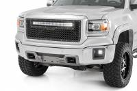 Exterior - Grilles - Rough Country - Rough Country GMC Mesh Grille w/30in Dual Row Black Series LED (14-15 Sierra 1500) 70190