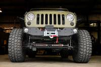 Rough Country - Rough Country Jeep Hybrid Stubby Winch Bumper (07-18 Wrangler JK) 1059 - Image 2