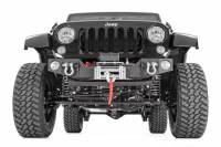 Rough Country - Rough Country Jeep Hybrid Stubby Winch Bumper w/Fog Mounts (07-18 Wrangler JK) 1062 - Image 2
