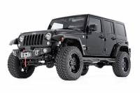 Rough Country - Rough Country Jeep Hybrid Stubby Winch Bumper w/Fog Mounts (07-18 Wrangler JK) 1062 - Image 3