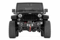 Rough Country - Rough Country Jeep Hybrid Stubby Winch Bumper w/Fog Mounts (07-18 Wrangler JK) 1062 - Image 4