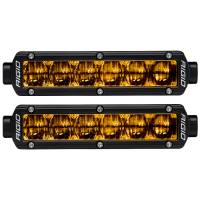 Lighting - Fog Lights - Rigid Industries - RIGID Industries SAE J583 Compliant Selective Yellow Fog Light Pair Sr-Series Pro 6 Inch Street Legal Surface Mount 906704