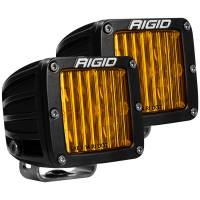 Lighting - Fog Lights - Rigid Industries - RIGID Industries SAE J583 Compliant Selective Yellow Fog Light Pair D-Series Pro Street Legal Surface Mount 504814