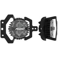 Rigid Industries - RIGID Industries Jeep JL Fog Mount Kit For 18-20 Jeep JL Sport/Sport S W/1 Set 360-Series 4.0 Inch SAE Yellow Lights 37109