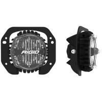 Lighting - Fog Lights - Rigid Industries - RIGID Industries Jeep JL/Gladiator Bumper Fog Mount Kit For 18-20 Jeep JL Rubicon/Gladiator 1 Piece Plastic With 360-Series 4.0 Inch SAE White Lights 37106