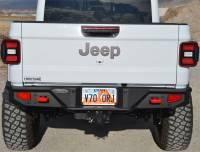 Exterior - Bumpers & Parts - Rock Slide Engineering - Rock Slide Engineering - Gladiator Full Rear Bumper For 20-Pres Jeep Gladiator No Tire Carrier Rigid Series - RB-F-101-JT
