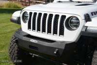 Rock Slide Engineering - Rock Slide Engineering - Jeep JL Shorty Front Bumper For 18-Pres Wrangler JL With Winch Plate No Bull Bar Rigid Series - FB-S-101-JL