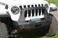 Rock Slide Engineering - Jeep JL Shorty Front Bumper For 18-Pres Wrangler JL Complete With Winch Plate Rigid Series - FB-S-100-JL