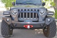 Rock Slide Engineering - Jeep JL/JT Full Front Bumper For 18-Pres Wrangler JL/Gladiator Rigid Series Complete With Winch Plate - FB-F-100-JL