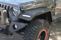 Rock Slide Engineering - Rock Slide Engineering - Jeep JL Front Fender Flares For 18-Pres Wrangler JL With OEM LED Light Package - AC-FF-102-F-JLA