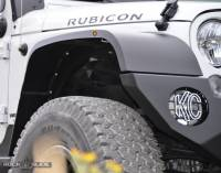 Rock Slide Engineering - Rock Slide Engineering - JK Front Fender Flares For 07-18 Wrangler JK Full Length - AC-FF-100-F-JKA