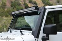 Rock Slide Engineering - Rock Slide Engineering - Jeep JK 50 Inch LED A-Pillar Brackets for 07-18 Wrangler JK - AC-WS-100-JK