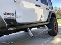 Rock Slide Engineering - Rock Slide Engineering - Step-Slider Rocker Guards For 20-Pres Wrangler JL 4 Door - AX-SS-RG-JL4