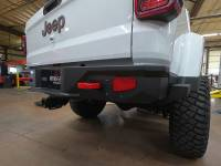 Rock Slide Engineering - Rock Slide Engineering - Gladiatror Rear Rock Sliders for 20-Pres Jeep Gladiator JT Steel Powdercoat - BR-100-JT4
