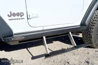 Rock Slide Engineering - Rock Slide Engineering - Jeep JL Side Step Sliders For 18-Pres Wrangler JL 2 Door Models Set - BD-SS-200-JL2