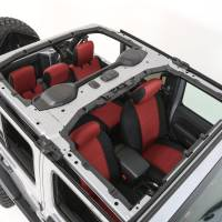 Interior - Seat Covers - Smittybilt - Smittybilt - Jeep JL Neoprene Front and Rear Seat Cover Set Wrangler JL 4-Door Black/Red - 472130