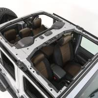 Interior - Seat Covers - Smittybilt - Smittybilt - Jeep JL Neoprene Front and Rear Seat Cover Set Wrangler JL 4-Door Black/Tan - 472125