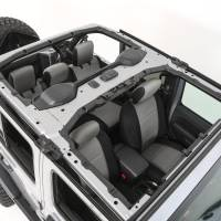 Interior - Seat Covers - Smittybilt - Smittybilt - Jeep JL Neoprene Front and Rear Seat Cover Set Wrangler JL 4-Door Black/Gray - 472122