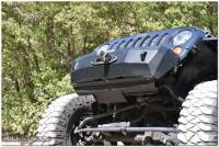 Rock Slide Engineering - Rock Slide Engineering - Jeep JK Front Bumper Skid Plate For 07-18 Wranger JK Rigid Series Steel Powdercoat Black - FB-SP-100-JK