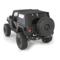 Exterior - Soft Tops - Smittybilt - Smittybilt - Soft Top 07-09 Wrangler JK 2 DR OEM Replacement W/Tinted Windows Black Diamond - 9070235