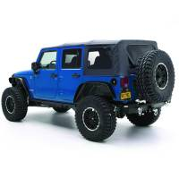 Exterior - Soft Tops - Smittybilt - Smittybilt - Soft Top 10-18 Wrangler JK 4 DR OEM Replacement W/Tinted Windows Black Diamond - 9085235