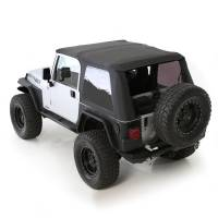 Exterior - Soft Tops - Smittybilt - Smittybilt - Bowless Soft Top Combo 97-06 Wrangler TJ OEM Replacement W/Tinted Windows Black Diamond - 9973235