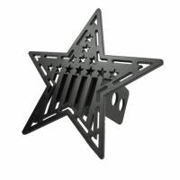 Towing - Towing Accessories - Rock Slide Engineering - Rock Slide Engineering - Steel Hitch Star Cover Universal - AC-HS