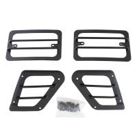 Interior - Interior Accessories - Smittybilt - Smittybilt - Euro Head Light Guards 97-06 Wrangler TJ Black 4 Piece - 5670
