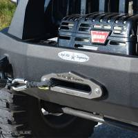 Winches & Recovery - Fairleads & Rollers - Rock Slide Engineering - Rock Slide Engineering - Aluminum Winch Fairlead For RSE Front Bumpers With Synthetic Winch Lines - RSEFL