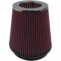 S&B Filters - S&B Filters - Air Filter For Intake Kits 75-2557 Oiled Cotton Cleanable 6 Inch Red S&B - KF-1016