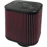 S&B Filters - S&B Filters - Air Filter For Intake Kits 75-1532, 75-1525 Oiled Cotton Cleanable Red S&B - KF-1000