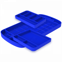 Shop By Part - Gear & Apparel - S&B Filters - S&B Filters - Tool Tray Silicone 3 Piece Set Color Blue S&B - 80-1002