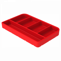 Shop By Part - Gear & Apparel - S&B Filters - S&B Filters - Tool Tray Silicone Small Color Red S&B - 80-1001S